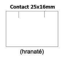 Etikety cenové 25x16mm/36kot (1150et) Contact bílé obdélníkové