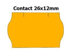 Etikety cenové 26x12mm/36kot (1500et) Contact oranžové signální zaoblené