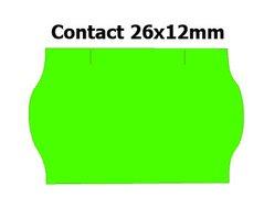 Etikety cenové 26x12mm/36kot (1500et) Contact zelené signální zaoblené