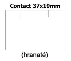 Etikety cenové 37x19mm/25kot (1500et) Contact bílé obdélníkové