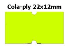 Etikety cenové 22x12mm/42kot (1250et) Cola-ply žluté signální obdélníkové