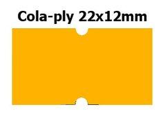 Etikety cenové 22x12mm/42kot (1250et) Cola-ply oranžové signální obdélníkové
