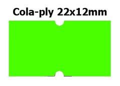 Etikety cenové 22x12mm/42kot (1250et) Cola-ply zelené signální obdélníkové