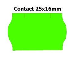 Etikety cenové 25x16mm/36kot (1150et) Contact zelené signální zaoblené
