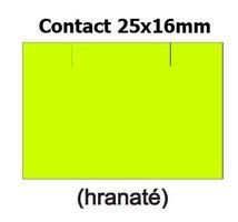 Etikety cenové 25x16mm/36kot (1150et) Contact žluté signální obdélníkové