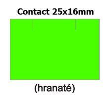 Etikety cenové 25x16mm/36kot (1150et) Contact zelené signální obdélníkové