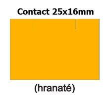 Etikety cenové 25x16mm/36kot (1150et) Contact oranžové signální obdélníkové