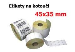 Etikety na kotouči 45x35mm bílé, 3000et OTK