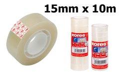 Páska lepící KORES, 15mm/10m, transparentní
