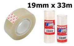 Páska lepící KORES, 19mm/33m, transparentní