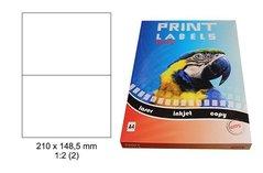 Etikety Print Emy 210x148,5mm, bílé, 2ks/arch, 100 archů, samolepící