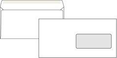 Obálka poštovní DL 110x220mm, okénko, 1ks/1000 bílá, vlhčící, DOPRODEJ