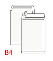 Obálka poštovní B4 250x353mm 1ks/250 bílá, samolepící s páskou, ofset