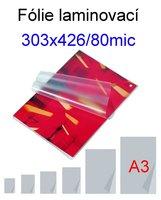 Fólie laminovací A3/303x426/ 80my/100