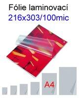 Laminovací fólie MATNÉ A4/100mic. 100ks, 216x303 mm