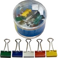 Klip Binder kovový 19 mm barevný Europen