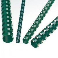 Hřbet kroužkový plastový pro vazbu, zelený, 16mm pro 120listů, 1ks/100