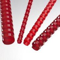 Hřbet kroužkový plastový pro vazbu, červený, 10mm pro 55listů, 1ks/100