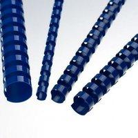 Hřbet kroužkový plastový pro vazbu, modrý, 8mm pro 40listů, 1ks/100, prodej po kusech