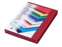 Karton DELTA A4/250g/100ks červená-imitace kůže