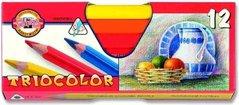 Pastelky 3152/12 TRIOCOLOR triangular lakované