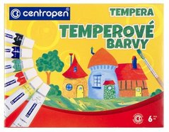 Barvy TEMPERA 6ks CENTROPEN