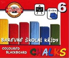 Křída ŠKOLNÍ 160 barevná, 6 barev 112505