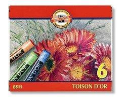 Křídy TOISON DOR 8511/ 6 (prašné umělecké)