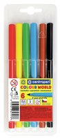 Popisovač CENTROPEN COLOUR WORLD 7550/ 6ks/TP obal, sada fixů, 2mm, vypratelné