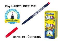 Fixy HAPPY LINER 2521/1 KK, 0,3mm, 04-červená