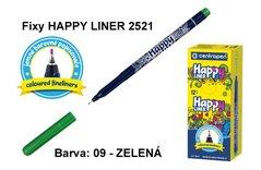 Fixy HAPPY LINER 2521/1 KK, 0,3mm, 09-zelená