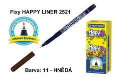 Fixy HAPPY LINER 2521/1 KK, 0,3mm, 11-hnědá