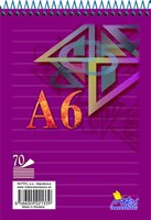 Blok A6 spirála 16074/1b (linka) 8mm   NOTES