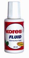 Lak opravný KORES Fluid 20ml (štěteček)  66101.06