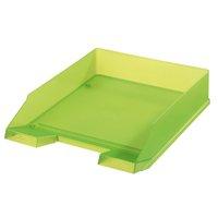 Box kancelářský, plný, zelený transparentní HERLITZ
