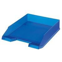 Box kancelářský, plný, modrý transparentní HERLITZ