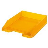 Box kancelářský, plný, oranžový transparentní HERLITZ