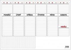 Plánovač stolní A3-týdenní mapa OS090