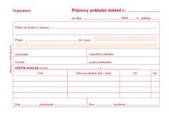 Příjmový pokladní doklad A6 pro podvojné účetnictví, propisující PT030