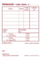 Paragon A7 - daňový doklad, propisující PT009