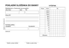 Pokladní složenka do banky A6 propisující PT080