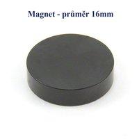 Magnet 16mm, kulatý černý