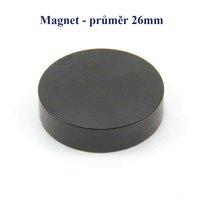Magnet 26mm, kulatý černý