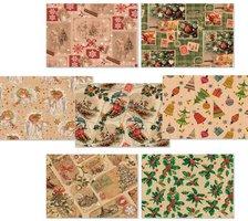 Papír balící - Vánoční kraftový       roličky   0959