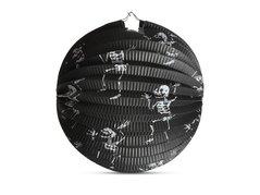 Lampion Halloween kulatý - kostlivci, 25cm            1032045