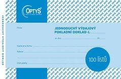 Výdajový doklad A6, jednoduchý, 100 listů OP1036