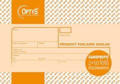Příjmový doklad A6, samopropisovací, číslovaný, 2 x 50 listů OP1081
