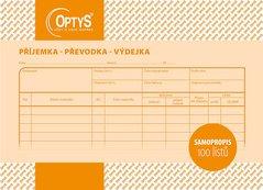 Samopropisovací příjemka, převodka, výdejka A5, 100 listů OP1087
