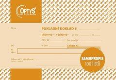 Univerzální pokladní doklad A6, samopropisovací, 100 listů OP1093
