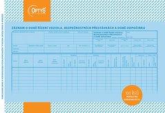 Záznam o době řízení vozidla a bezpeč. přestávkách Karbon A4, 100 listů OP1174
